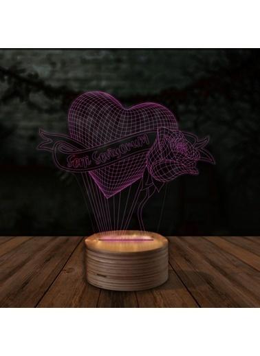 Artikel Seni Seviyorum 3D LED Gece Lambası Renkli